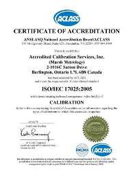 ACCREDITED CALIBRATION - ISO 17025